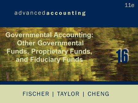 FISCHER | TAYLOR | CHENG Governmental Accounting: Other Governmental Funds, Proprietary Funds, and Fiduciary Funds.