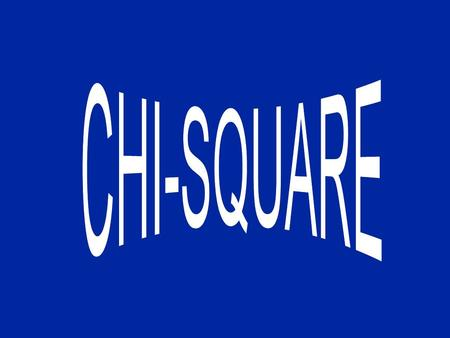 Chi Square Chi square is employed to test the difference between an actual sample and another hypothetical or previously established distribution such.