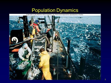 1 Population Dynamics. 2 Outline Dynamics of Population Growth Factors That Increase or Decrease Populations Factors That Regulate Population Growth Conservation.