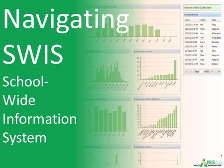 Navigating SWIS School- Wide Information System. Navigating SWIS Data Team Meeting Process: TIPS Sharing Data with Staff Q & A & Resources Agenda: