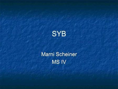 SYB Marni Scheiner MS IV Marni Scheiner MS IV. Case HPI: 78 yo M, brought to ED by ambulance in complete cardiac arrest. Patient was with his family out.