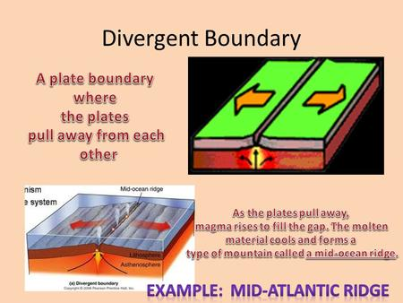 Divergent Boundary. Mid-Atlantic Ridge – world's longest mountain chain.