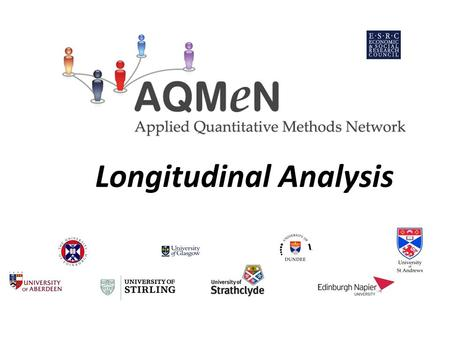 Longitudinal Analysis. AQMeN Introduction to Advanced Quantitative Techniques Thursday 13 th May 2010 Longitudinal Analysis Professor Vernon Gayle University.