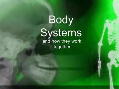 Body Systems and how they work together. There are 10 body systems: Skeletal Muscular Digestive Respiratory Circulatory Endocrine Immune Excretory Reproductive.