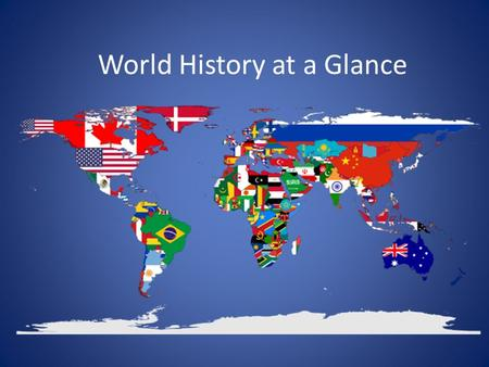 "World History at a Glance. Renaissance 15 th century Period in history after the Middle Ages (aka the Dark Ages) Means ""rebirth"" Interest in classical."