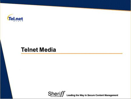 Telnet Media. Telnet Media Ltd Surfing the Web Secure Content Management Products Reasons to implement Agenda.