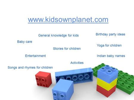 Birthday party ideas General knowledge for kids