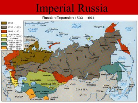 Imperial Russia. Russia Divided For hundreds of years Russia's population was divided into groups of very rich and very poor.