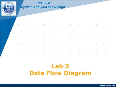 Www.company.com Lab 3 Data Flow Diagram CPIT 250 System Analysis and Design.