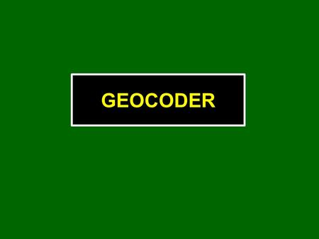 GEOCODER. Developed by Dr. Luciano Fonseca, formerly of UNH-CCOM Licensed as a standard feature in HYPACK ® (HYPACK MAX, OFFICE, ACOUSTIC and HYSWEEP.