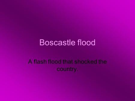 A flash flood that shocked the country.