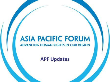 APF Updates. The APF's priority areas remain unchanged. Our 2011-2015 Strategic Plan sets out our five strategic objectives, which are to: enhance members'