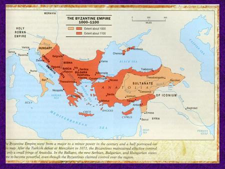 The Byzantine Empire The Growth of Byzantine Power The Byzantine Empire was the former Eastern Roman Empire with Constantinople as the center of the empire.