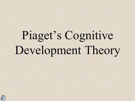 Piaget's Cognitive Development Theory. Cognition All the mental activities associated with thinking, knowing, and remembering Children think differently.