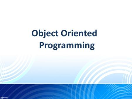 Object Oriented Programming. Constructors  Constructors are like special methods that are called implicitly as soon as an object is instantiated (i.e.