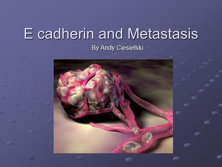 E cadherin and Metastasis By Andy Ciesielski. Genomic organization of the human E-cadherin gene. Positions of exons are shown in color boxes with the.