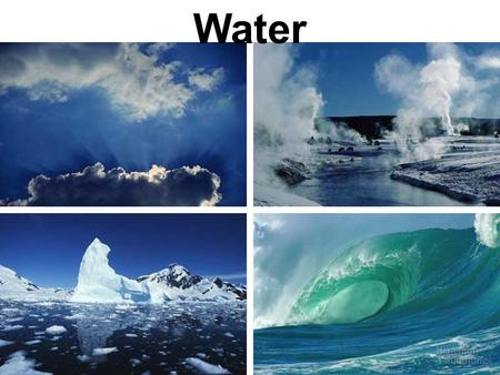 Water.  In a water molecule two hydrogen atoms form single polar covalent bonds with an oxygen atom. Gives water more structure than other liquids ◦