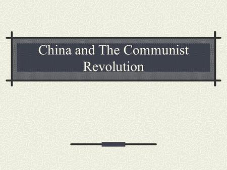 China and The Communist Revolution. I. Vocab Mao Tse-tung (Zedong) – leader of the Chinese Communist Party, founded in 1921 and established an army of.