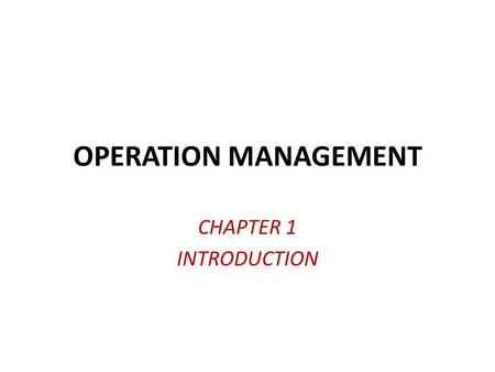 importance of operations strategy Operations management follow this topic technology & operations magazine there is a disconnect in most companies between strategy formulation and strategy.