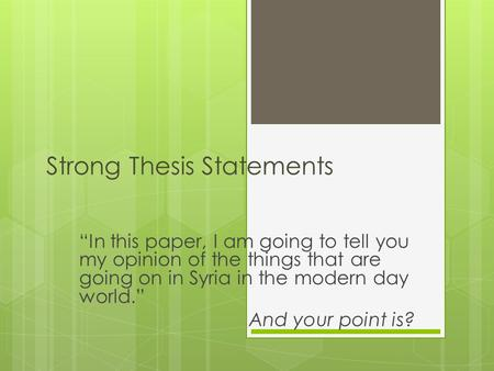 is a claim and thesis the same thing