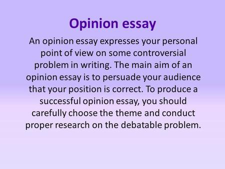 personal essay point of view My point of view on social networking sites   it's become a major issue in my school and i wanted to share my point of view on the  a personal note  send.