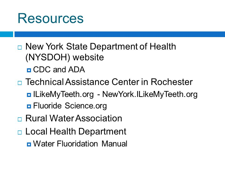 Fluoridation Manual Addresses Benefits Safety concerns Cost Operations and Engineering Contains: Articles Fact sheets and official statements New York specific information