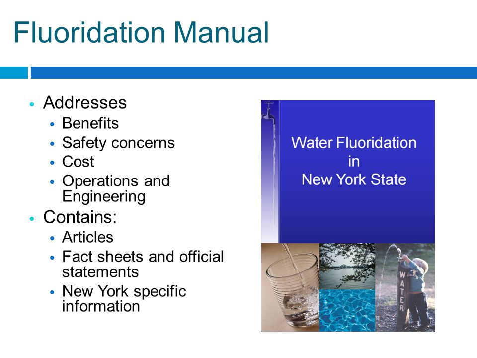 NewYork.ILikeMyTeeth.org Component website on ILMT Features information specific to NYS including: NYS laws and regulations Electronic copy of fluoridation manual New York fluoridation maps Links to other fluoridation websites Fact sheets and resources