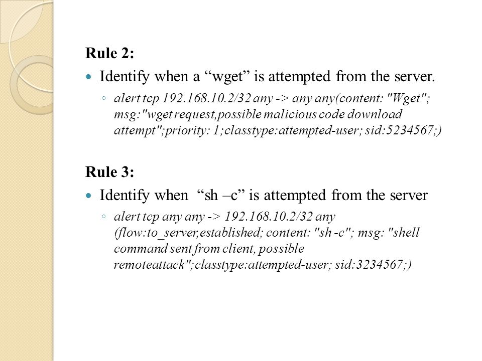 Rule 3: Looks for a repeated concurrent 4 byte pattern which contains any character other than null byte characters i.e.