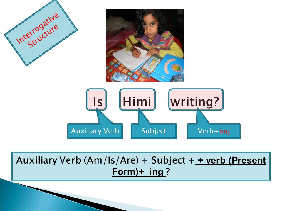 Make sentence according to the following pictures:- 1 24 5 3