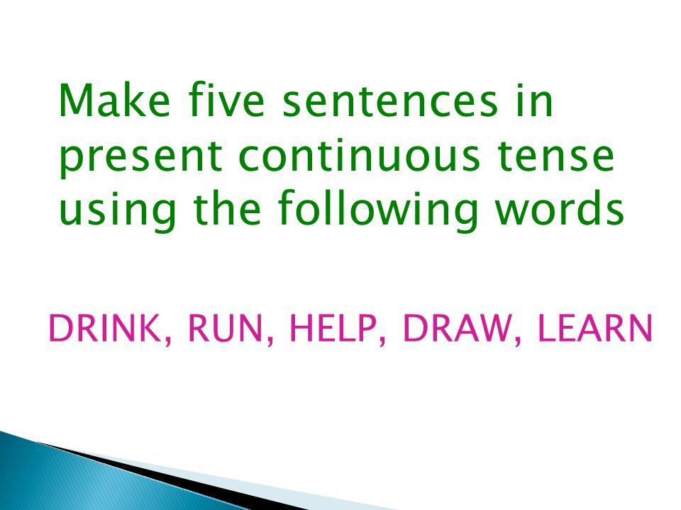 Convert into Present Continuous tense:- 1.I go to school.