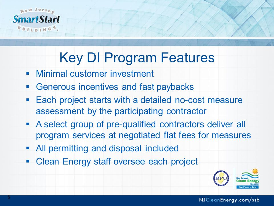 9 Pay for Performance (P4P) Program  Comprehensive, whole-building approach to saving energy in existing or new facilities  Goal is to reduce facility energy consumption by 15% or more  New construction projects must save 15% over current ASHRAE building code  Uses a network of program partners who provide technical services under direct contract to you  We monitor their performance on your behalf