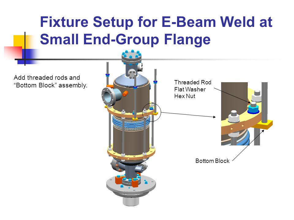Fixture Setup for E-Beam Weld at Small End-Group Flange (Cont.) 2A.