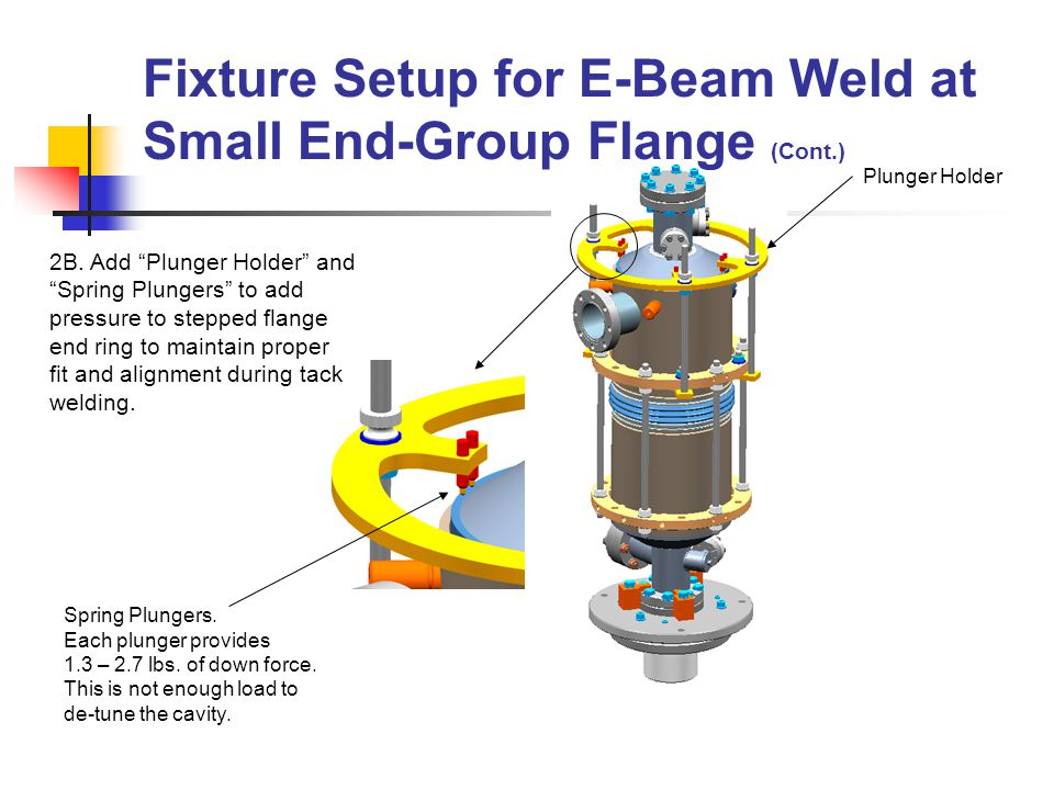 E-Beam Weld – Ti Vessel to Small End- Group Flange Location and angle of electron beam weld.
