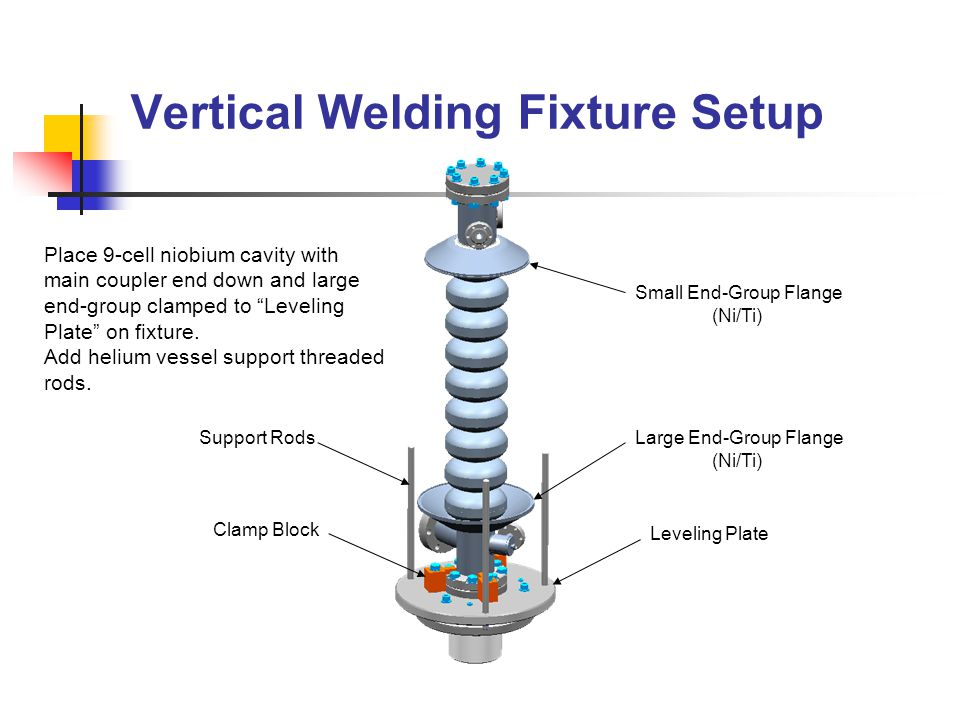 Helium Vessel Placement Lower vessel and align vessel step to cavity end-group step.