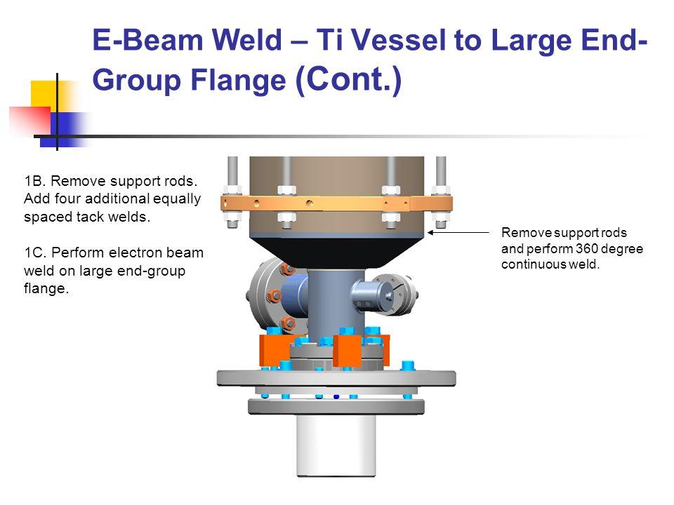 Ni55Ti conical end cap Ti helium vessel Weld Direction