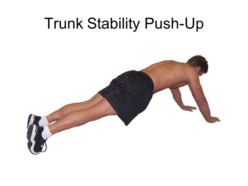 Assesses trunk stability in the sagittal plane while a symmetrical upper-extremity motion is performed.
