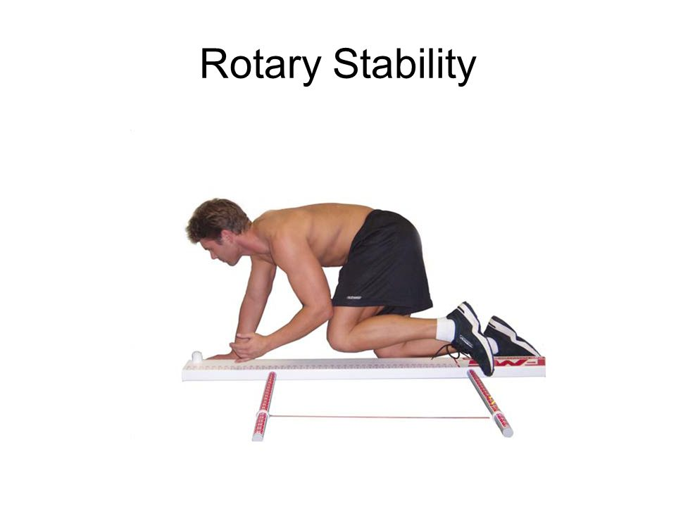 The rotary stability test assesses multi- plane trunk stability during a combined upper and lower extremity motion.