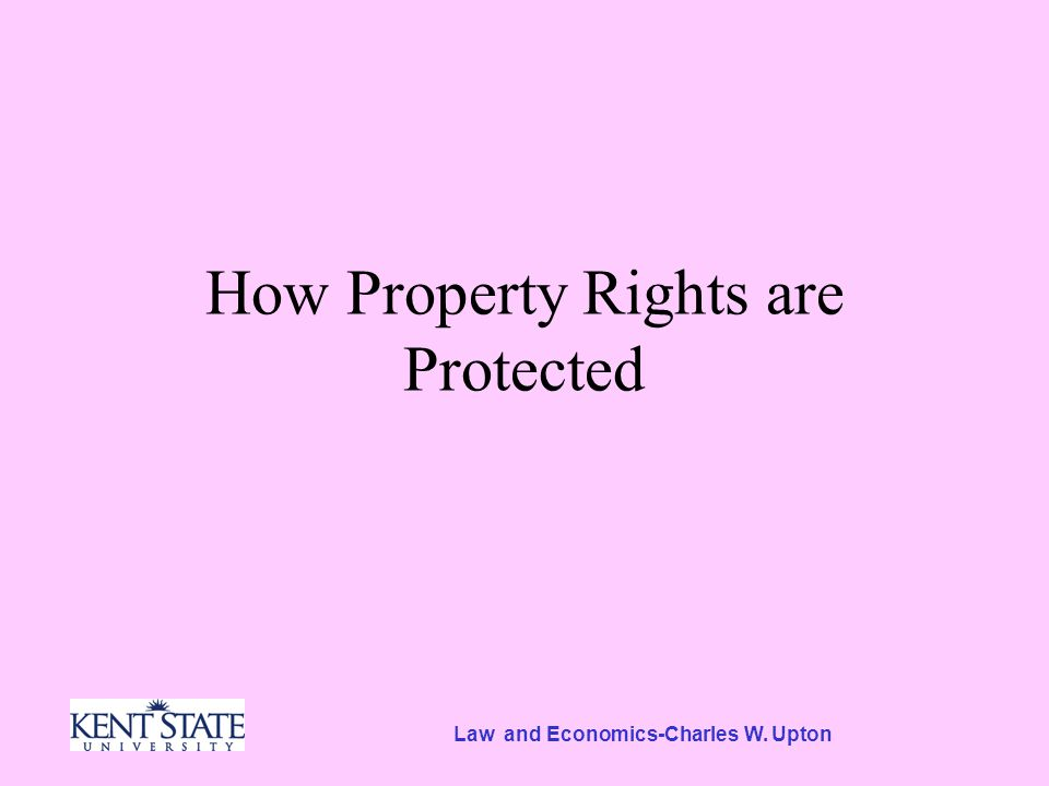 Protecting Property Rights Suppose you begin to build a house on my land.
