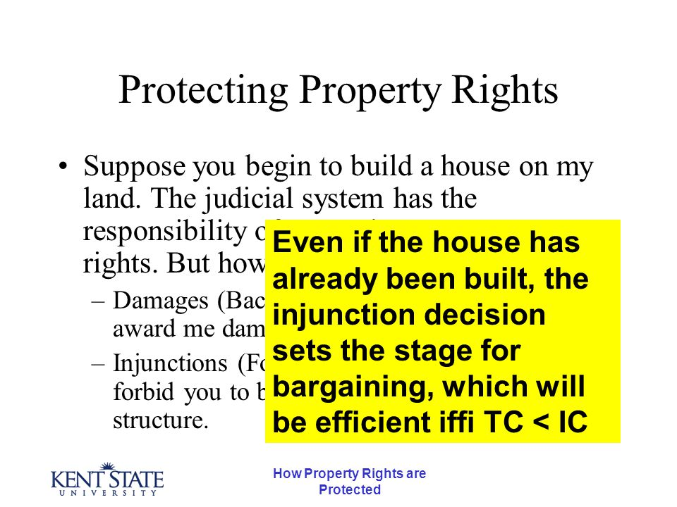 How Property Rights are Protected An Example