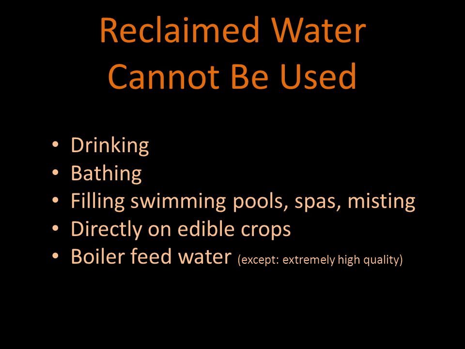 Required warnings when used for irrigation