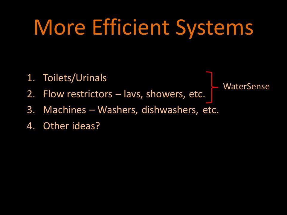 Overview of Water Systems
