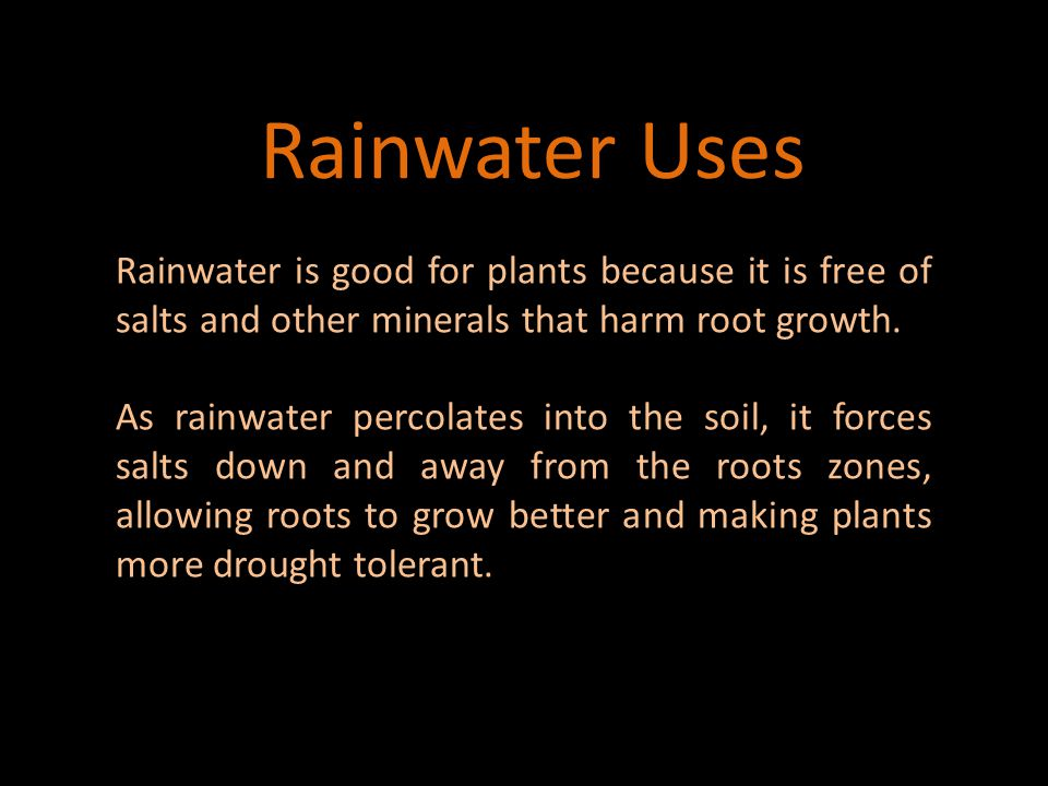 Rainwater Concerns Water Quality Impurities in the air in industrialized/urban areas such as arsenic and mercury.