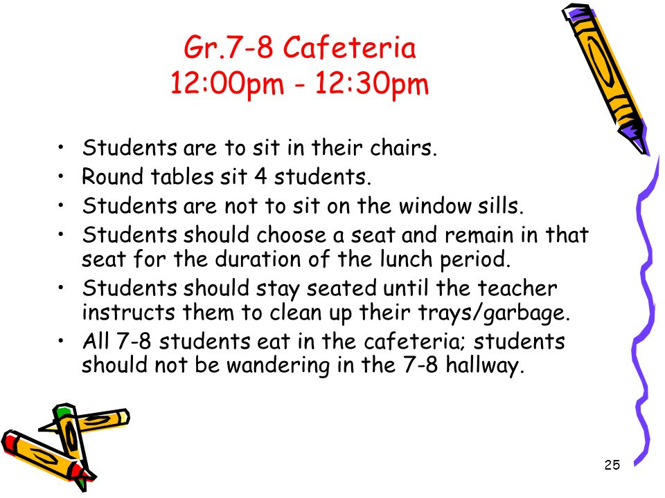 Food Concerns and Clarifications Any types of beverages are not to be brought back to class.