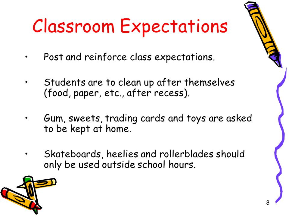 Classroom Expectations Arrive on time.