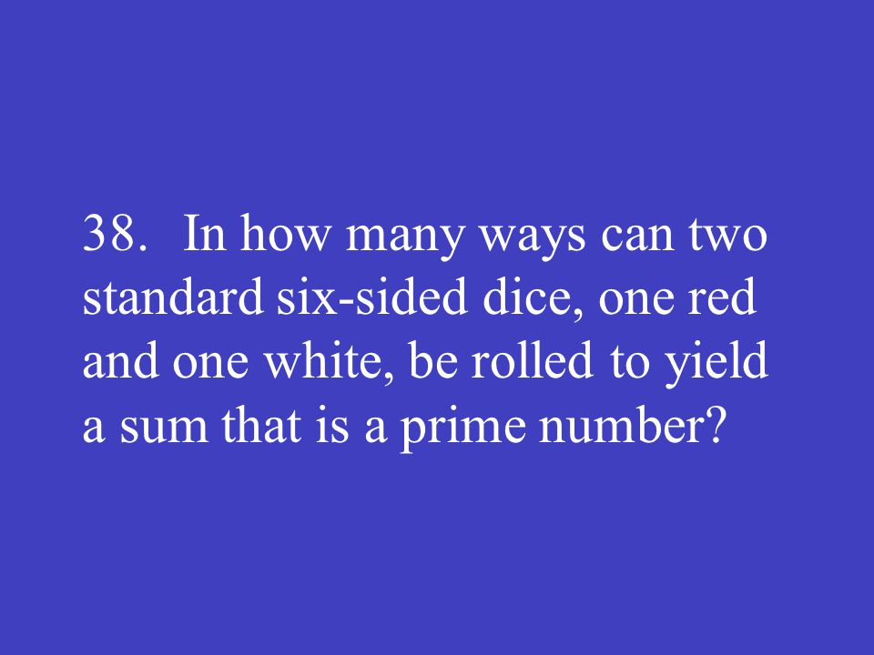 Answer: 15 (ways)