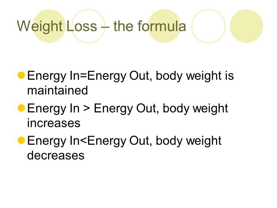 Is body weight so straightforward.