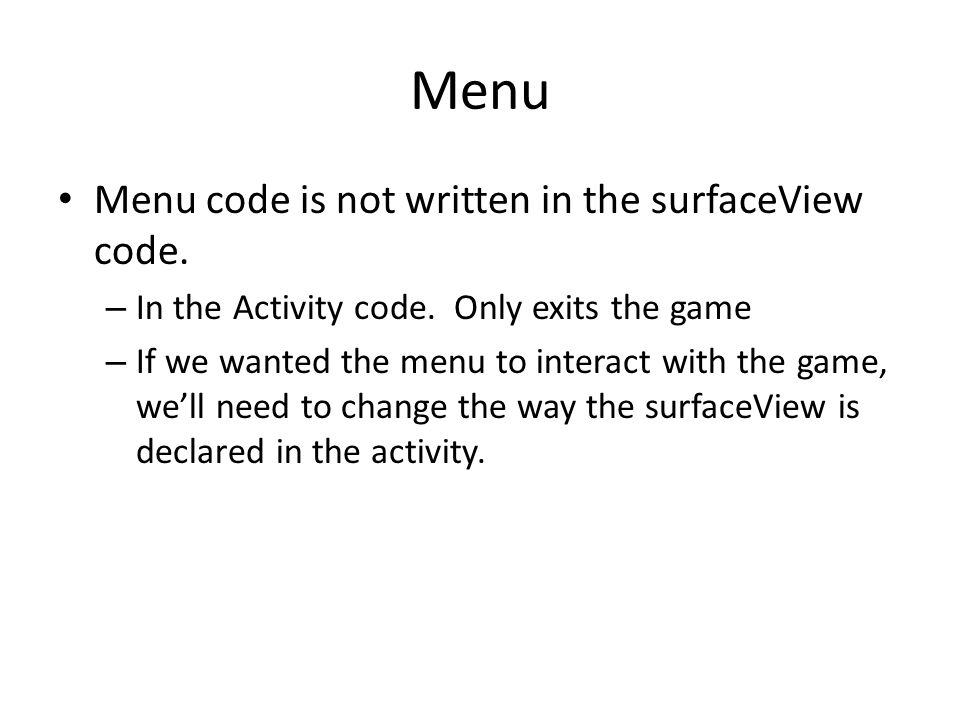 Look at the gameAnd code