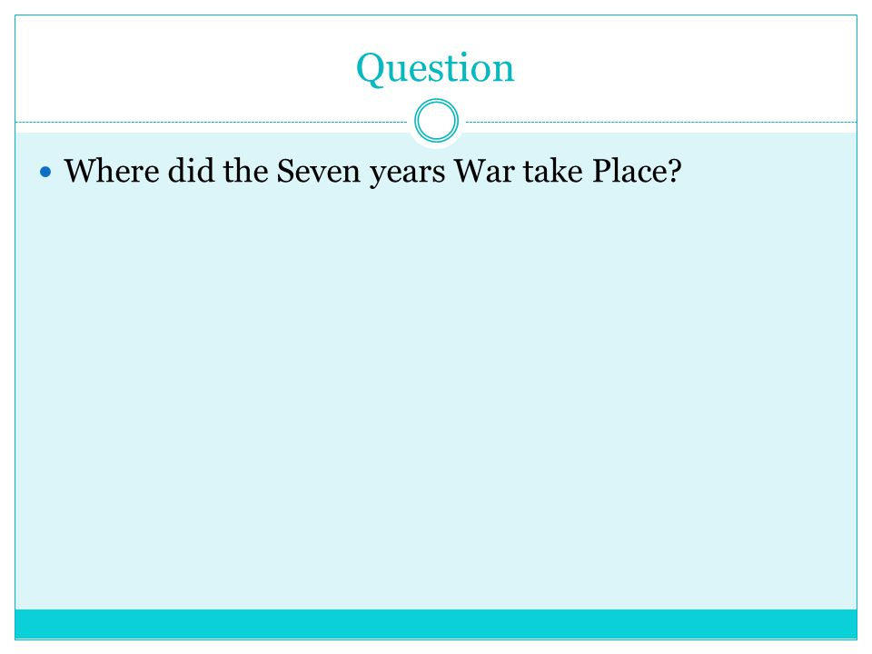 ANSWER Europe India THE colonies