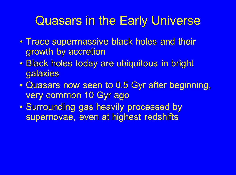 Heavy elements in high-redshift quasars HST composite, courtesy W. Zheng)