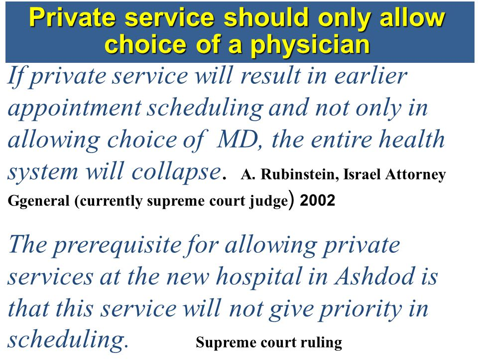 First study – Accessibility of Specialty clinics Aim to test if there is a priority in scheduling for private medicine in Jerusalem.